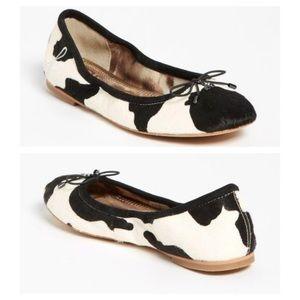 Sam Edelman Cow print Felicia flats size 9